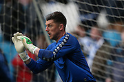 Sheffield Wednesday goalkeeper Keiren Westwood (1)  during the Sky Bet Championship play-off first leg match between Sheffield Wednesday and Brighton and Hove Albion at Hillsborough, Sheffield, England on 13 May 2016. Photo by Simon Davies.
