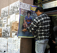 19/04/04 - DIEGO MARADONA WAS INTERNED AT HOSPITAL - Buenos Aires - Argentina. <br />