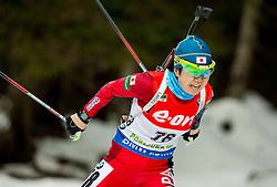 Yurie Tanaka of Japan competes during Women 7.5 km Sprint at day 1 of IBU Biathlon World Cup 2014/2015 Pokljuka, on December 18, 2014 in Rudno polje, Pokljuka, Slovenia. Photo by Vid Ponikvar / Sportida
