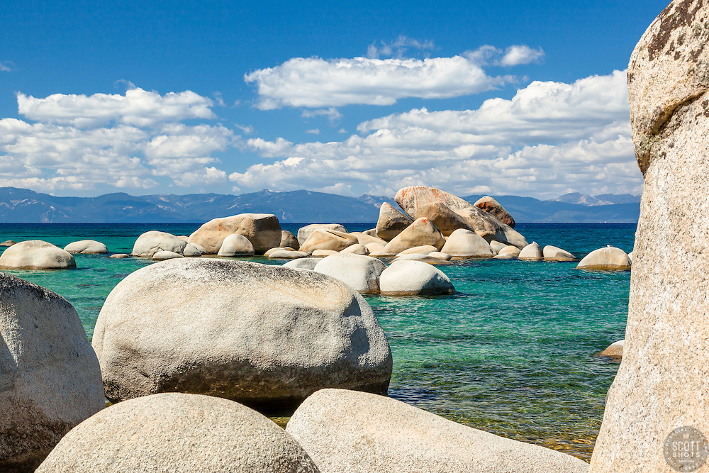 """Whale Rock, Lake Tahoe 4"" - Photograph of the famous Whale Rock on the East Shore of Lake Tahoe."