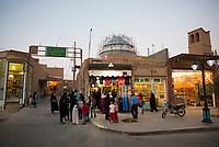 Iran, Yazd, 31.08.2016: Strassenszene in Yazd, Provinz Yazd, Zentral-Iran.