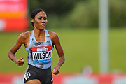 Ajee WILSON of the United States wins the Women's 800m during the Muller Grand Prix at Alexander Stadium, Birmingham, United Kingdom on 18 August 2019.