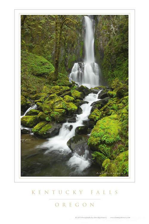 Kentucky Falls Oregon Poster