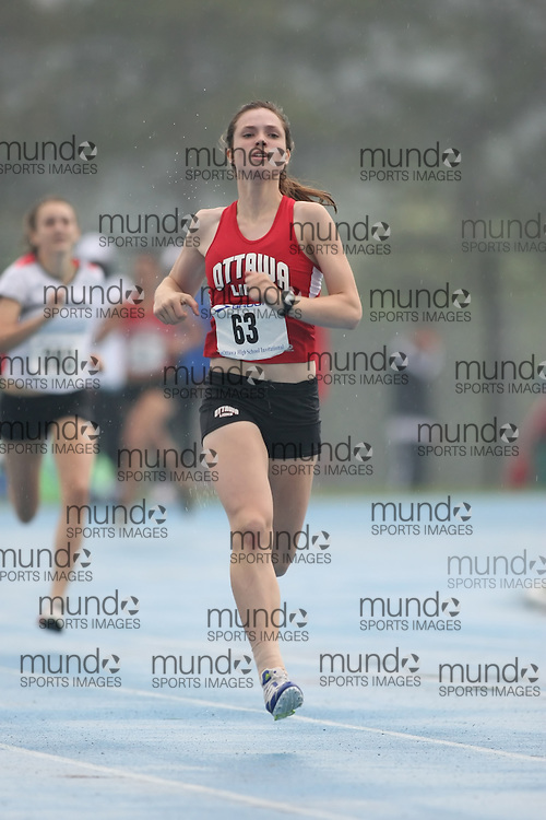 """(Ottawa, Ontario---20080628) """"Callender, Fiona"""" competing in the 400m at the 2008 District G qualifier for the Royal Canadian Legion Ontario Track and Field Championships. This image is copyright Sean W. Burges, and the photographer can be contacted at seanburges@yahoo.com."""