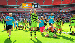 Forest Green Rovers players celebrate their promotion to the football league- Mandatory by-line: Nizaam Jones/JMP - 14/05/2017 - FOOTBALL - Wembley Stadium- London, England - Forest Green Rovers v Tranmere Rovers - Vanarama National League Final