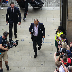 England Head Coach Eddie Jones arrives during the International match between England and Barbarians at Twickenham on May 27, 2018 in London, England. (Photo by Andrew Lewis)