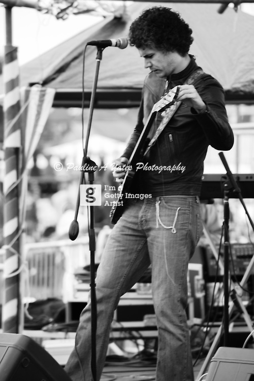 A guitarist plays at Strawberry Fair, Cambridge