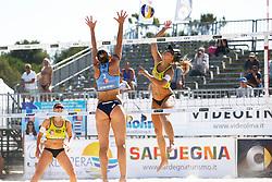 20140604 ITA: EK Beachvolleybal, Cagliari<br /> Marloes Wesselink, Laura Bloem<br /> ©2014-FotoHoogendoorn.nl / Pim Waslander