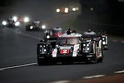 June 14-19, 2016: 24 hours of Le Mans. 2 PORSCHE TEAM, PORSCHE 919 HYBRID, Romain DUMAS, Neel JANI, Marc LIEB, LMP1, Start of the 24 hours of Le Mans