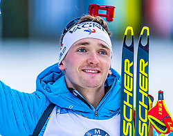 16.01.2020, Chiemgau Arena, Ruhpolding, GER, IBU Weltcup Biathlon, Sprint, Herren, im Bild Fabien Claude (FRA) // Fabien Claude of France during the men's sprint competition of BMW IBU Biathlon World Cup at the Chiemgau Arena in Ruhpolding, Germany on 2020/01/16. EXPA Pictures © 2020, PhotoCredit: EXPA/ Stefan Adelsberger