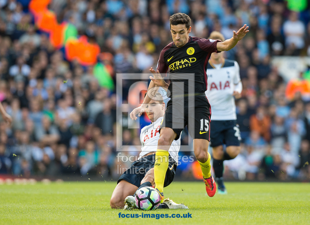 Jesus Navas of Manchester City during the Premier League match at White Hart Lane, London<br /> Picture by Alan Stanford/Focus Images Ltd +44 7915 056117<br /> 02/10/2016