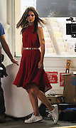 Sept. 18, 2014 - New York City, NY, United States - <br /> <br /> Katie Holmes shoots commercial<br /> <br /> Actress Katie Holmes shoots a commercial on September 18 2014 in New York City  <br /> ©Exclusivepix