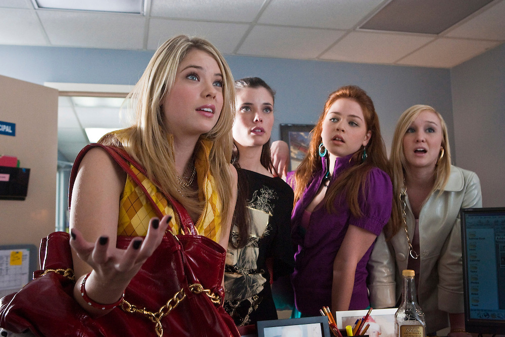 Ashley Benson as Brooke Tippit in the Lifetime Original Movie 'Fab Five: The Texas Cheerleader Scandal.'