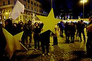 FiveStars movement electoral campaign closing rally at Piazza del Popolo in Rome on 2 Febraury 2018. Christian Mantuano / OneSho.