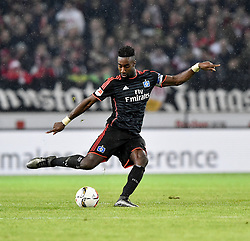 30.12.2015, Mercedes Benz Arena, Stuttgart, GER, 1. FBL, VfB Stuttgart vs Hamburger SV, 19. Runde, im Bild Johan Djourou HSV Hamburg Hamburger SV am Ball // during the German Bundesliga 19th round match between VfB Stuttgart and Hamburger SV at the Mercedes Benz Arena in Stuttgart, Germany on 2015/12/30. EXPA Pictures © 2016, PhotoCredit: EXPA/ Eibner-Pressefoto/ Weber<br /> <br /> *****ATTENTION - OUT of GER*****