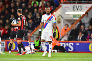 Jordan Ayew (14) of Crystal Palace during the Premier League match between Bournemouth and Crystal Palace at the Vitality Stadium, Bournemouth, England on 1 October 2018.