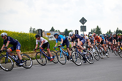 Gloria Rodriguez (ESP) and Mieke Kröger (GER) in the bunch at Lotto Thüringen Ladies Tour 2019 - Stage 1, a 98.4 km road race in Gera, Germany on May 28, 2019. Photo by Sean Robinson/velofocus.com