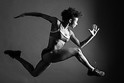 Running On air- fitness photography with dancer Khadija Griffith.
