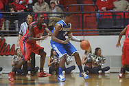 "Kentucky's Terrence Jones (3)  against Ole MIss forward Reginald Buckner (2) at the C.M. ""Tad"" Smith Coliseum in Oxford, Miss. on Tuesday, February 1, 2011. Ole Miss won 71-69."