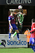 Tom Elliott forward for AFC Wimbledon (9) during the Sky Bet League 2 match between Dagenham and Redbridge and AFC Wimbledon at the London Borough of Barking and Dagenham Stadium, London, England on 19 April 2016. Photo by Stuart Butcher.