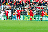 Football — 2016 / 2017 Premier League - Swansea vs Liverpool<br /> <br /> James Milner  of Liverpool scores his team's second goal from the penalty spot  at the Liberty Stadium.<br /> <br /> pic colorsport/winston bynorth