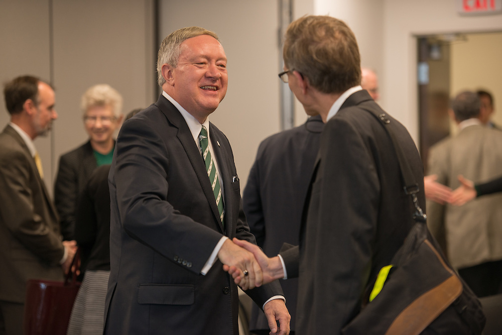 The Ohio University Board of Trustees, in a unanimous vote, formally elected Dr. M. Duane Nellis as the 21st president of OHIO during a special meeting of the board today (February 22).
