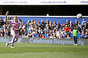 Reading striker Deniss Rakels (10) scores a goal during the Sky Bet Championship match between Queens Park Rangers and Reading at the Loftus Road Stadium, London, England on 23 April 2016. Photo by Andy Walter.