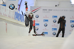 February 23, 2019 - Calgary, Alberta, Canada - Elisabeth Vathje (Canada) is on the track during BMW IBSF SKELETON WORLD CUP Calgary Canada 23.02.2019 (Credit Image: © Russian Look via ZUMA Wire)