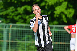 Matic Marusko of ND Mura celebrates his second goal during football match between ND Mura and ND Tabor Sezana in Round #28 of 2.SNL 2017/18 on May 13, 2018 in Mestni stadion Fazanerija , Murska Sobota , Slovenia. Photo by Mario Horvat / Sportida