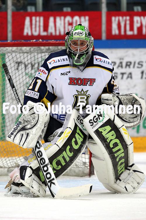 1.11.2011, Hmeenlinna...Jkiekon SM-liiga 2011-12. HPK - Blues..Petri Koivisto - Blues