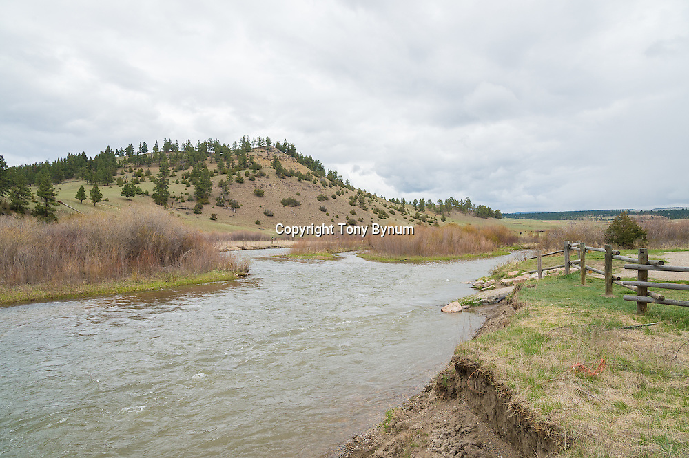 sheep creek and smith river confluence at baker launch site, montana