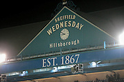 General View of Stadium during the Sky Bet Championship match between Sheffield Wednesday and Burnley at Hillsborough, Sheffield, England on 2 February 2016. Photo by Mark Doherty.