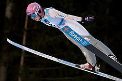 February 7, 2019 - Ljubno, Savinjska, Slovenia - Karolina Indrackova of Czech Republic competes on qualification day of the FIS Ski Jumping World Cup Ladies Ljubno on February 7, 2019 in Ljubno, Slovenia. (Credit Image: © Rok Rakun/Pacific Press via ZUMA Wire)