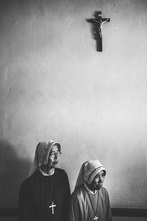 A portrait of two nuns working with the Sisters of Charity in northern Myanmar.