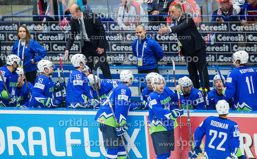 Matjaz Kopitar, head coach Slovenia during Ice Hockey match between Russia and Slovenia at Day 3 in Group B of 2015 IIHF World Championship, on May 3, 2015 in CEZ Arena, Ostrava, Czech Republic. Photo by Vid Ponikvar / Sportida