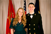 The Nave ROTC and Marine ROTC celebrate at the Navy and marine birthday ball at the Monona Terrace in Madison, Wisconsin on November 10, 2012.