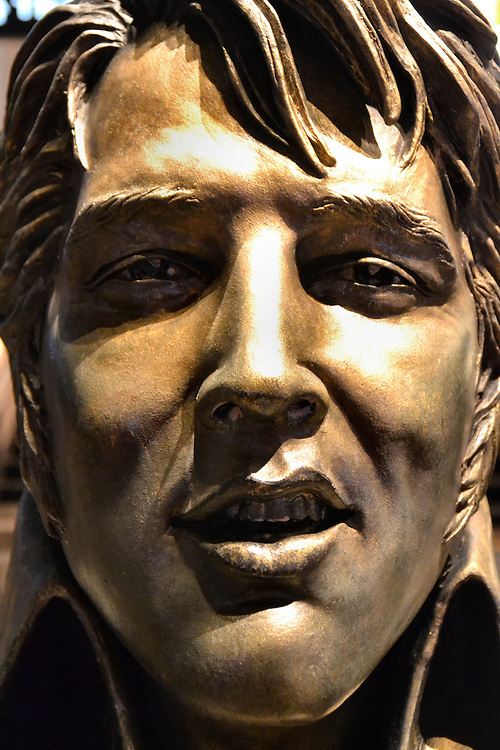 Bronze Elvis Presley Bust from Faces on the Strip at Las Vegas, Nevada