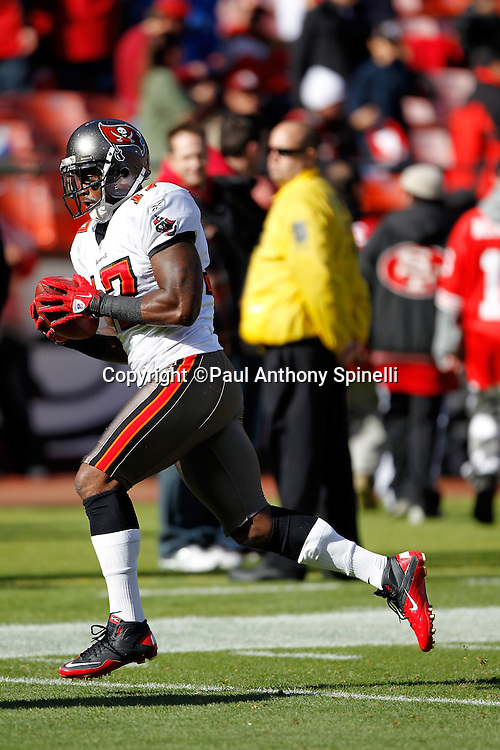 Tampa Bay Buccaneers wide receiver Arrelious Benn (17) catches a pregame pass during the NFL week 11 football game against the San Francisco 49ers on Sunday, November 21, 2010 in San Francisco, California. The Bucs won the game 21-0. (©Paul Anthony Spinelli)