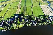 Nederland, Noord-Holland, Gemeente Amsterdam, 13-06-2017; dorpje Holysloot, gelegen in Landelijk Noord. Dorpsstraat en Holysloter Die. Marken in de achtergrond.<br /> The small village Holysloot, north of Amsterdam in rural area.<br /> luchtfoto (toeslag op standaard tarieven);<br /> aerial photo (additional fee required);<br /> copyright foto/photo Siebe Swart<br /> The small village Holysloot, north of Amsterdam in rural area.<br /> luchtfoto (toeslag op standaard tarieven);<br /> aerial photo (additional fee required);<br /> copyright foto/photo Siebe Swart
