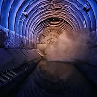 Traforo del Frejus 17/11/2014, abbattimento dell'ultimo diaframma della seconda canna del tunnel autostradale che collega l'Italia alla Francia attraverso le valli di Susa e Maurienne.