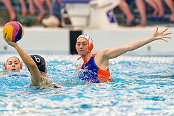 Sabrina Van Der Sloot #4 of Netherlands in action during the friendly match Netherlands vs USA on February 19, 2020 in Amerena Amersfoort.