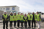 Staff from the senior primary school view the new school
