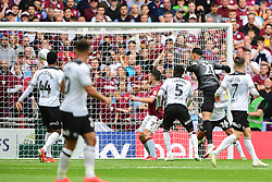 May 27, 2019 - London, England, United Kingdom - JohnMcGinn (7) of Aston Villa watches the ball go in the goal to make it 2-0 during the Sky Bet Championship match between Aston Villa and Derby County at Wembley Stadium, London on Monday 27th May 2019. (Credit: Jon Hobley | MI News) (Credit Image: © Mi News/NurPhoto via ZUMA Press)