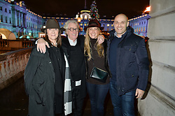 Left to right, FRANK & CHERRYL COHEN, their daughter GEORGINA KRON and JONATHAN KRON at Skate At Somerset House with Fortnum & Mason on 16th November 2016.