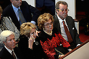 Surrounded by family, former Georgia First Lady Betty Sanders, center, attends a memorial service for her husband, former Gov. Carl Sanders, at Second Ponce de Leon Baptist Church on Saturday, Nov. 22, 2014, in Atlanta.Photo by David Tulis