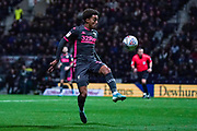 Leeds United forward Helder Costa (17) in action during the EFL Sky Bet Championship match between Preston North End and Leeds United at Deepdale, Preston, England on 22 October 2019.