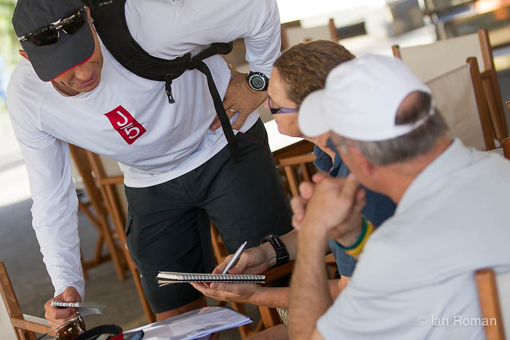 SPAIN, Palma. 19th June 2013. Superyacht Cup. J Class. Skippers briefing.