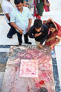 Blessing at the Jagdish Mandir temple