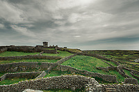 O'Brien's Castle (Caislean Ui Bhrian) on Inisheer Island, part of the Aran Islands, off west coast of Ireland. Copyright 2019 Reid McNally.