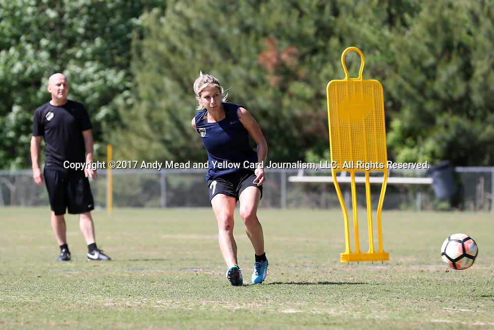 CARY, NC - MAY 04: McCall Zerboni. The North Carolina Courage held a training session on May 4, 2017, at WakeMed Soccer Park Field 6 in Cary, NC.